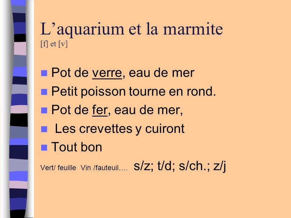 L'aquarium et la marmite [f] et [v]